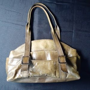 Kenneth Cole olive green leather bag
